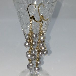 14K Freshwater Potato Pearl Drop Earrings